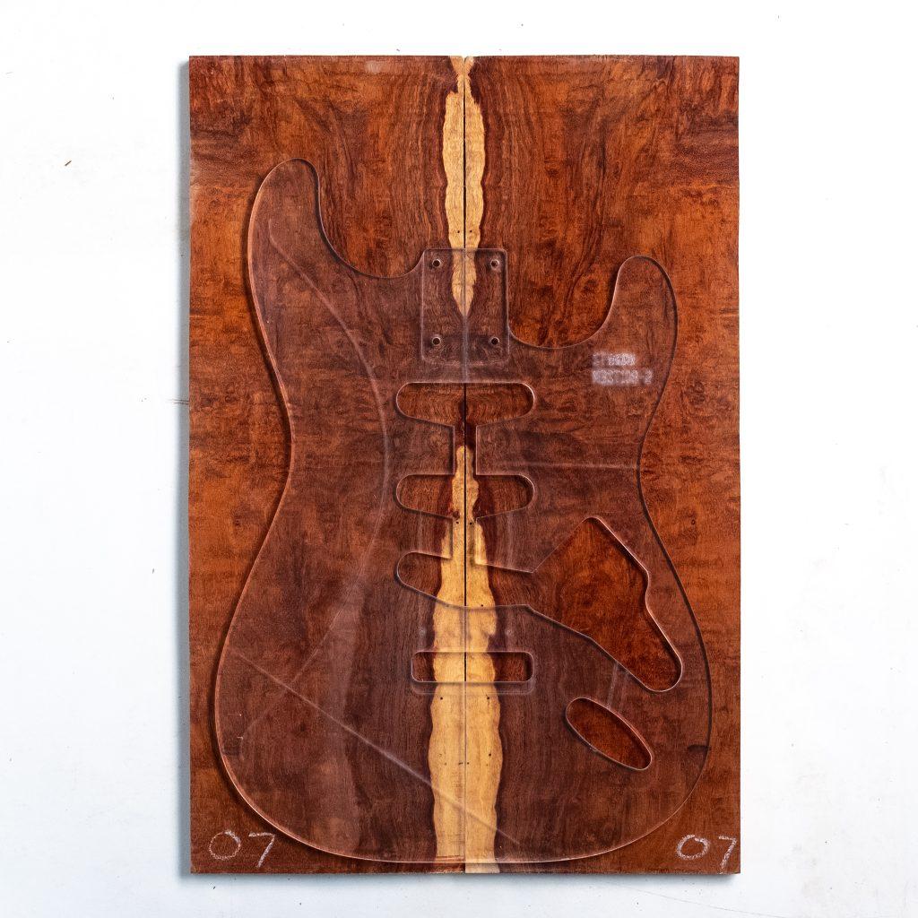 Granadillo Old Growth Wood Guitar Top