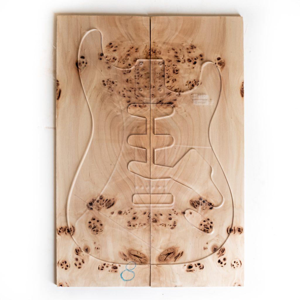 Poplar Burl Electric Guitar Top