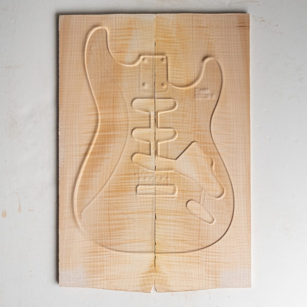 """Flame Maple 1/4"""" Guitar Top"""